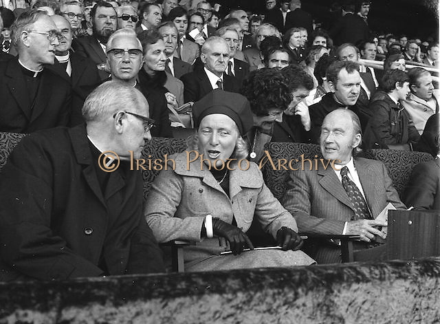 Shot of the crowd during the All Ireland Football Final Dublin v Armagh at Croke Park, 25th September 1977.