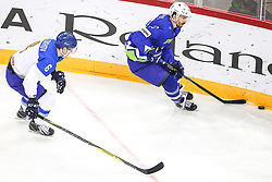 Miha Verlic of Slovenia during Ice Hockey match between National Teams of Kazakhstan and Slovenia in Round #4 of 2018 IIHF Ice Hockey World Championship Division I Group A, on April 27, 2018 in Arena Laszla Pappa, Budapest, Hungary. Photo by David Balogh / Sportida