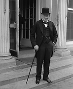 Sir Winston Leonard Spencer-Churchill (1874–24 1965) British statesman. He served as Prime Minister 1940-1945 and again  1951-1955.