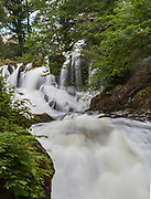 Swallow Falls, on the Afon Llugwy near Betws-y-Coed, Snowdonia National Park, Wales, UK