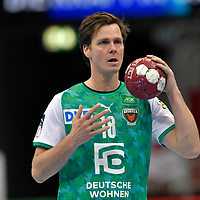21.11.2020, Duesseldorf, ISS Dome, GER, 1.Liqui Moly HBL,  BHC06 vs. Fuechse Berlin<br /><br />1.Liqui Moly HBL  regulations prohibit any use of photographs as image sequences and/or quasi-video<br />im Bild Hans Lindberg ( Fuechse Berlin #18 ).<br /><br />Foto © nordphoto / freund *** Local Caption ***