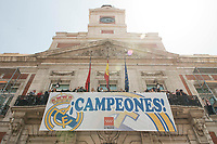 Real Madrid's on the balcony of the Seat of government greeting the fans in Madrid, May 22, 2017. Spain.<br /> (ALTERPHOTOS/BorjaB.Hojas)