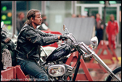 Shovelhead in the Rain, Sturgis, South Dakota, 1987<br /> <br /> Limited Edition Print from an edition of 15. Photo ©1987 Michael Lichter.