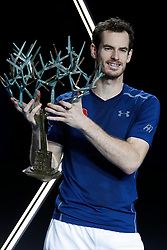 File photo - United Kingdom's Andy Murray won the final 6-3, 6-7, 6-4 vs USA's John Isner at the BNP Paribas Tennis Masters 1000 2016, in the AccorHotels Arena, Paris, France, on November 6th 2016. Andy Murray shocked the tennis world Friday morning in Melbourne when he announced his plans to retire this year during a tearful press conference ahead of the Australian Open. The former world No. 1 had hip surgery in January 2017 and says the pain has become too much to bear. Photo by Henri Szwarc/ABACAPRESS.COM