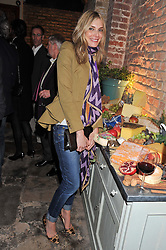 KIM HERSOV at an evening of cheesey culinary delights & champagne hosted by Alex James, Yasmin Mills and Elaine Foran held at Aubaine, 31 Dover Street, London on 20th March 2012.