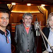NLD/Blaricum/20120329 - Opname EK CD Ferdi Bolland, Wilfred Genee, Bennie Jolink en Johan Derksen