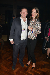 ED VAIZEY MP - UK Minister for Culture, Communications and Creative Industries and his wife ALEX VAIZEY at the Universal Bacardi Brits' After Party At Soho House Pop-Up, 8 Victoria Embankment, London on 19th February 2014.