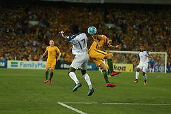Australia Vs Honduras world cup qualifier, intercontinental Playoff. 15 Nov 2017 Pictured: Alberth Elis, Aziz Behich. Photo credit: MEGA TheMegaAgency.com +1 888 505 6342