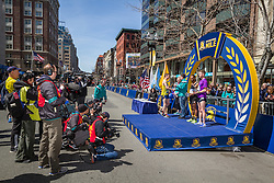 BAA Invitational Miles, Professional Men's Mile race, top three on podium