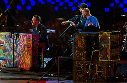 Coldplay during the closing ceremony of the London 2012 Paralympic Games on September 9, 2012, in Olympics stadium, Stratford, London, Great Britain. (Photo by Vid Ponikvar / Sportida.com)