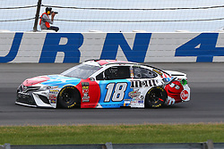 June 3, 2018 - Long Pond, PA, U.S. - LONG POND, PA - JUNE 03:  Kyle Busch (18) drives the M&M's Red, White and Blue Toyota during the Monster Energy NASCAR Cup Series - Pocono 400 on June 3, 2018 at Pocono Raceway in Long Pond, PA.  (Photo by Rich Graessle/Icon Sportswire) (Credit Image: © Rich Graessle/Icon SMI via ZUMA Press)