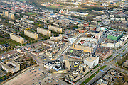 Nederland, Utrecht, Nieuwegein, 01-04-2016; Stadscentrum Nieuwegein met (deels overdekt) winkelcentrum City Plaza. Gemeentehuis.<br /> Newly developed city with shopping mall.<br /> luchtfoto (toeslag op standard tarieven);<br /> aerial photo (additional fee required);<br /> copyright foto/photo Siebe Swart