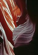 Narrows of Lower Antelope Canyon, Navajo Reservation, Arizona.
