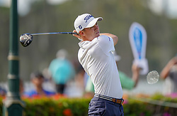 January 10, 2019 - Honolulu, HI, U.S. - HONOLULU, HI - JANUARY 10: Justin Thomas tees off on the 10th hole during the first round of the Sony Open on January 10, 2019, at the Waialae Counrty Club in Honolulu, HI. (Photo by Darryl Oumi/Icon Sportswire) (Credit Image: © Darryl Oumi/Icon SMI via ZUMA Press)