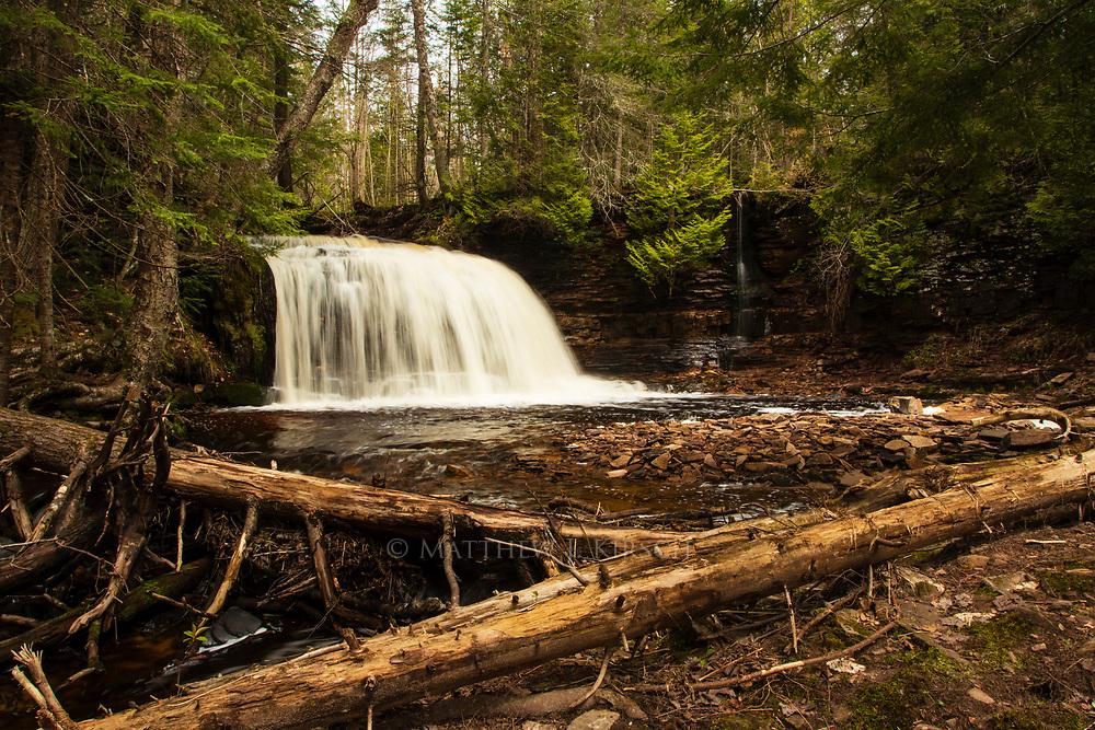 Rock River Falls in Upper Peninsula Michigan. Munsing, MI. May 2017