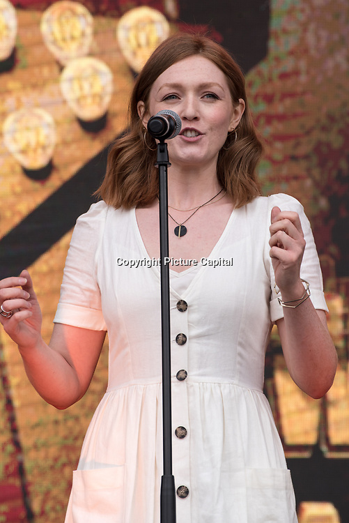 I Wish My Life Were Like A Musical on stage at West End Live on June 16 2018  in Trafalgar Square, London.