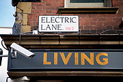 Street sign for Electric Lane in Brixton, South London. Brixton is a district in south London, England, in the London Borough of Lambeth. The area is identified in the London Plan as one of 35 major centres in Greater London. Brixton is predominantly residential with a prominent street market and substantial retail sector. It is a multiethnic community, with around 24 percent of Brixton's population being of African and Caribbean descent, giving rise to Brixton as the unofficial capital of the British African-Caribbean community.