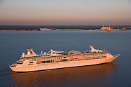 Aerials of Cruise Ship Royal Caribbean Enchantment of the Seas at Port of Baltimore