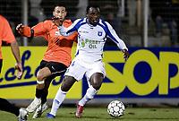 Fotball<br /> Frankrike<br /> Foto: DPPI/Digitalsport<br /> NORWAY ONLY<br /> <br /> FOOTBALL - FRENCH CHAMPIONSHIP 2007/2008 - L1 - AJ AUXERRE v RC LENS - 08/03/2008 - DENNIS OLIECH (AUX) / NADIR BELHADJ (LENS)