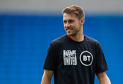 CARDIFF, WALES - Saturday, June 5, 2021: Wales' Aaron Ramsey, wearing a Hope United t-shirt, during the pre-match warm-up before an International Friendly between Wales and Albania at the Cardiff City Stadium in their game before the UEFA Euro 2020 tournament. (Pic by David Rawcliffe/Propaganda)