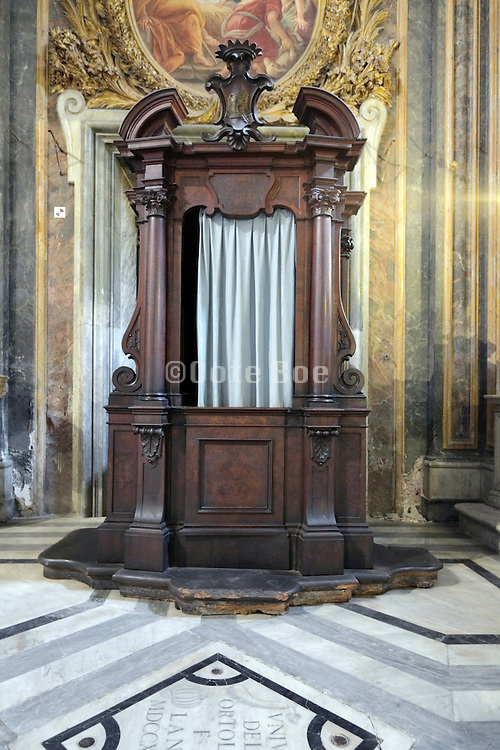 baroque style confessional
