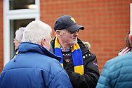 Wimbledon fans chatting before the EFL Sky Bet League 1 match between AFC Wimbledon and Plymouth Argyle at the Cherry Red Records Stadium, Kingston, England on 26 December 2018.