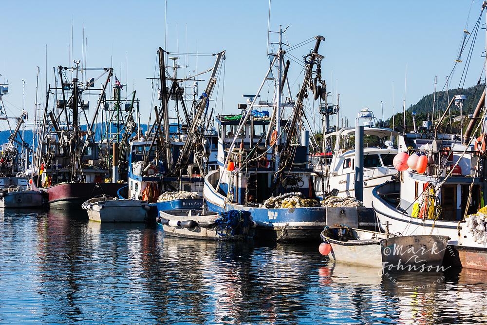 Salmon purse seine fishing boats, Sitka, Alaska, USA