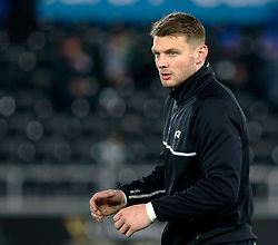 Ospreys' Dan Biggar during the pre match warm up<br /> <br /> Photographer Simon King/Replay Images<br /> <br /> Guinness PRO14 Round 19 - Ospreys v Leinster - Saturday 24th March 2018 - Liberty Stadium - Swansea<br /> <br /> World Copyright © Replay Images . All rights reserved. info@replayimages.co.uk - http://replayimages.co.uk