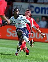 Fotball. Stevenage v Tottenham. 21.07.2002.<br /> Rohan Ricketts, Tottenham.<br /> Foto: Andrew Cowie, Digitalsport