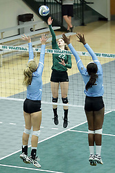 23 September 2017:  Anne Cummings during an NCAA womens division 3 Volleyball match between the Tufts Jumbos and the Illinois Wesleyan Titans in Shirk Center, Bloomington IL