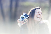 lady with her camera