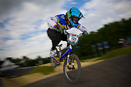 #50 (FALLA BUCHELY Emilio Andres) ECU at the UCI BMX Supercross World Cup in Papendal, Netherlands.