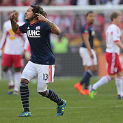 Jermaine Jones, New England Revolution, motivates his team during the New York Red Bulls Vs New England Revolution, MLS Eastern Conference Final, first leg at Red Bull Arena, Harrison, New Jersey. USA. 23rd November 2014. Photo Tim Clayton