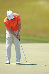 June 16, 2018 - Southampton, NY, USA - Paul Casey putting on the 9th green during the third round of the 2018 U.S. Open at Shinnecock Hills Country Club in Southampton, N.Y., on Saturday, June 16, 2018. (Credit Image: © Brian Ciancio/TNS via ZUMA Wire)