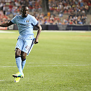 Yaya Touré, Manchester City, missing a penalty kick during  the penalty shoot out after the Manchester City Vs Liverpool FC Guinness International Champions Cup match at Yankee Stadium, The Bronx, New York, USA. 30th July 2014. Photo Tim Clayton