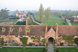 View of the main house from the Tower at Sissinghurst Castle Garden