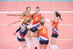 20150619 AZE: 1ste European Games Baku Servie - Nederland, Bakoe<br /> Nederland verslaat Servie met 3-2 / Robin de Kruijf, Femke Stoltenborg