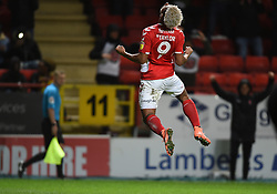 Charlton Athletic's Lyle Taylor celebrates scoring his side's second goal of the game