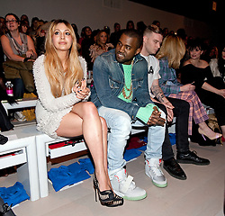 © Licensed to London News Pictures. 20/02/2012. London, UK.  Zara Martin and Kanye West on the front row at Mark Fast Autumn/Winter 2012 collection on Day 4 of London Fashion Week 2012 at Topshop Show Space on February 20th, 2012. Photo credit : Ben Cawthra/LNP