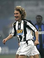 Milano 28-11-04<br /> <br /> Campionato di calcio Serie A 2004-05<br /> <br /> Inter Juventus<br /> <br /> nella  foto Nedved esulta dopo il gol<br /> <br /> Pavel Nedved celebrates goal of 0-1 for Juventus<br /> <br /> Foto Snapshot / Graffiti
