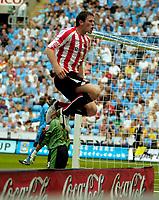Photo: Ed Godden.<br /> Coventry City v Sunderland. Coca Cola Championship. 06/08/2006. Daryl Murphy celebrates his goal for Sunderland.