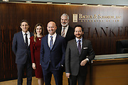 SHOT 1/8/19 12:11:57 PM - Bachus & Schanker LLC lawyers James Olsen, Maaren Johnson, J. Kyle Bachus, Darin Schanker and Andrew Quisenberry in their downtown Denver, Co. offices. The law firm specializes in car accidents, personal injury cases, consumer rights, class action suits and much more. (Photo by Marc Piscotty / © 2018)
