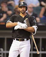 CHICAGO - MAY 31:  Seby Zavala #59 of the Chicago White Sox looks on against the Cleveland Indians on May 31, 2019 at Guaranteed Rate Field in Chicago, Illinois.  (Photo by Ron Vesely)  Subject:  Seby Zavala