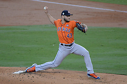 November 1, 2017 - Los Angeles, CA, United States - Astros Lance McCullers Jr., #43, started for the Astros in game 7 at Dodger Stadium Wednesday, November 1, 2017. (Credit Image: © David Crane/Los Angeles Daily News via ZUMA Wire)