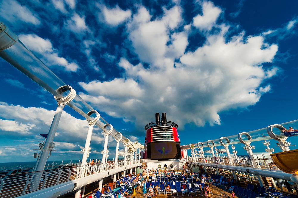 AquaDuck water coaster, Disney Dream cruise ship, Disney Cruise Line, sailing between Florida and the Bahamas