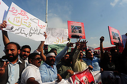 September 7, 2017 - Islamabad, Federal Capital, Pakistan - Pakistani protesters rally on the ongoing violence against the Rohingya Muslim minority in Myanmar, in Islamabad, Pakistan. (Credit Image: © Zubair Abbasi/Pacific Press via ZUMA Wire)