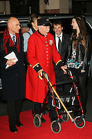 Burma-Thailand Railway POW; Royal Hospital Chelsea Pensioner, The Railway Man - UK Film Premiere, Odeon West End, Leicester Square, London UK, 04 December 2013, Photo by Richard Goldschmidt