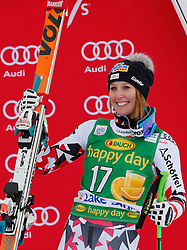 06.12.2015, East Summit Course, Lake Luise, CAN, FIS Weltcup Ski Alpin, Lake Luise, Damen, SuperG, im Bild Cornelia Huetter (AUT, 3. Platz) // 3rd placed Cornelia Huetter of Austria during the race of ladies Super G of the Lake Luise FIS Ski Alpine World Cup at the East Summit Course in Lake Luise, Canada on 2015/12/06. EXPA Pictures © 2015, PhotoCredit: EXPA/ SM<br /> <br /> *****ATTENTION - OUT of GER*****