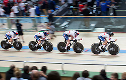 February 28, 2019 - Pruszkow, Poland - Laura Kenny (GBR),Katie Archibald (GBR),Elinor Barker (GBR),Eleanor Dickinson (GBR) on day two of the UCI Track Cycling World Championships held in the BGZ BNP Paribas Velodrome Arena on February 28, 2019 in Pruszkow, Poland. (Credit Image: © Foto Olimpik/NurPhoto via ZUMA Press)