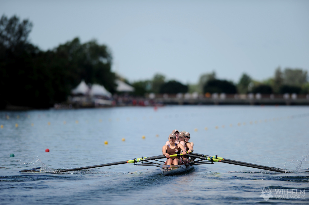 29 MAY 2011: Brown University during the Fours Petite Final during the 2011 NCAA Division I Women's Rowing Championship hosted by Washington State University held at the Sacramento State Aquatic Center in Gold River, CA. Brown placed 1st in the event.  © Brett Wilhelm